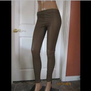 VINCE Leather Ankle Zip Leggings Pants Sz. 2XS